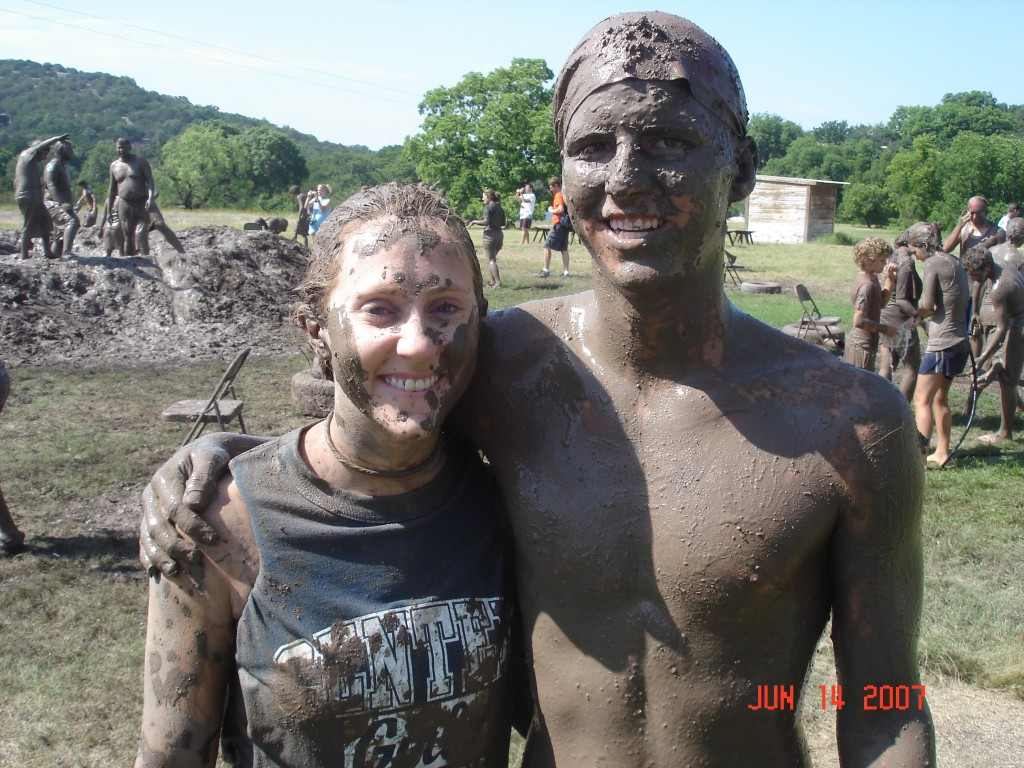 Ashley and I by the mud pit.